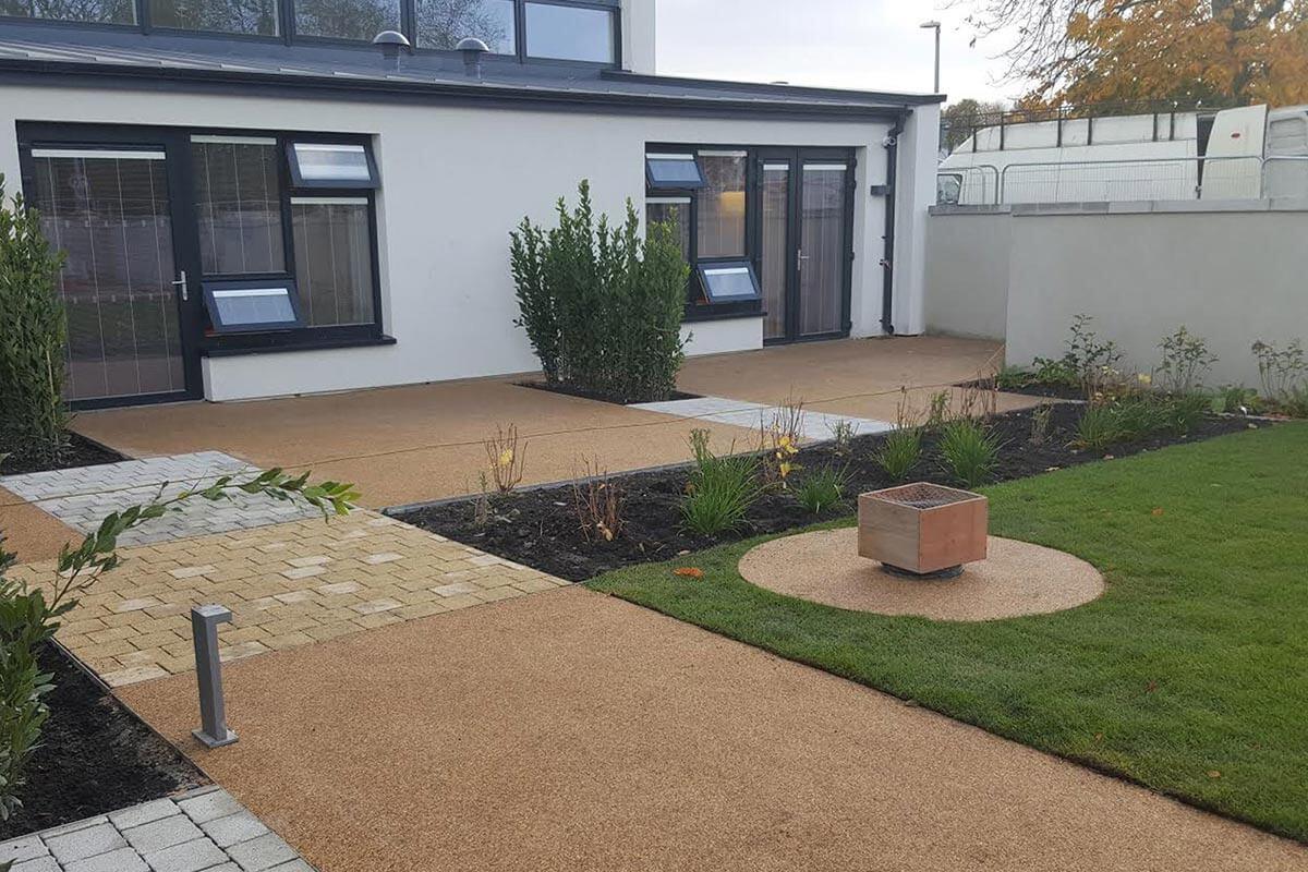 Resin bound residential garden