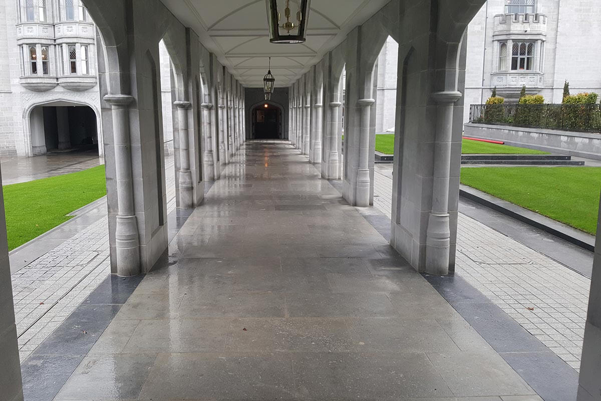 stone paving at adare manor